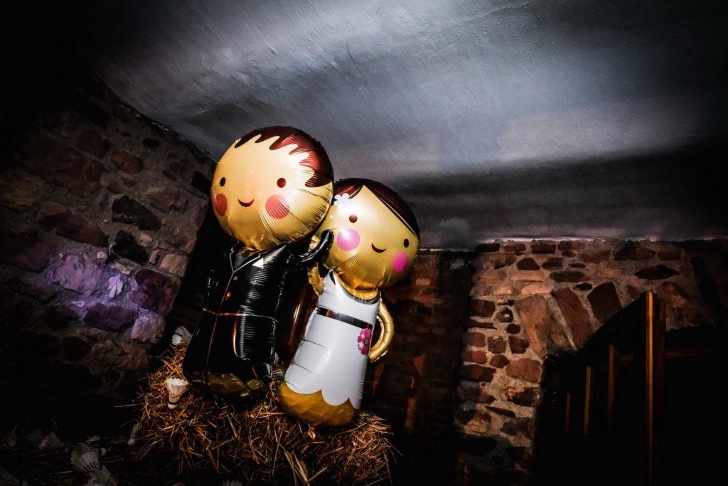 Brautpaar Ballons